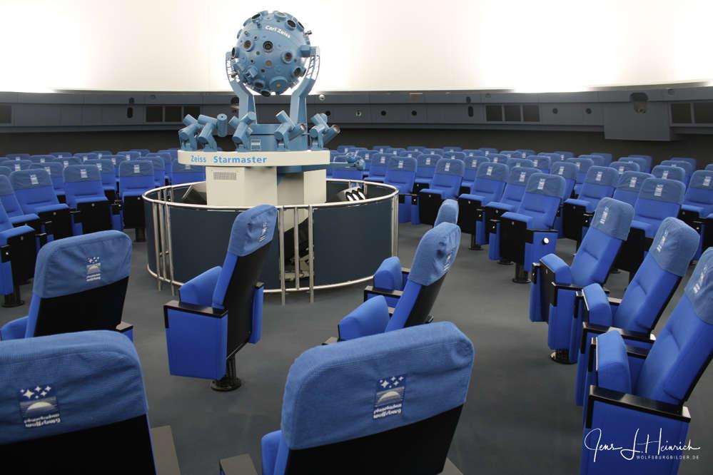 Innenansicht des Wolfsburger Planetariums