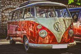 VW Bully auch in der Autostadt zu sehen